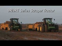 Video: John Deere 9R/9RT Scraper Tractors at Work