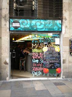 Juicy Jones vegan smoothie bar and restaurant.Heaven on Earth, Barcelona.