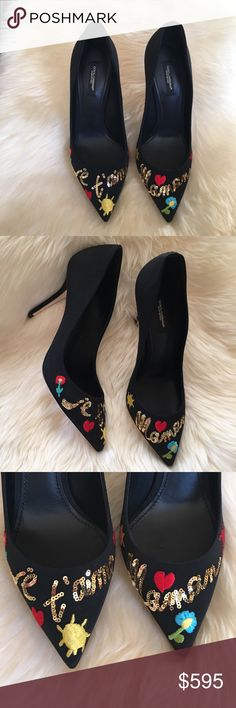 Dolce & Gabbana printed pumps New with box....size 39. Stunning pumps for New Years Eve Dolce & Gabbana Shoes