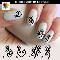 Deer Nail Decal Browning Deer Nail Decal 75  by Nailsgraphicworld, $5.90