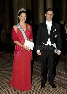 Crown Princess Victoria wore this tiara for the Representatives Dinner in January 2008.