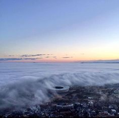 Cloud Tsunami, as a cold front hits Cape Town's atlantic seaboard!