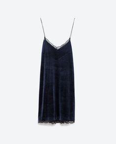 VELVET DRESS-Mini-Dresses-WOMAN   ZARA United States