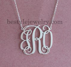 Initial Necklace  Name Necklace  Monogram Necklace  by Bestyle, $35.00