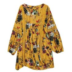 Fall and Spring No Floral Embroidery Long V-Collar Straight Mini Day Casual Cut Out Floral Tunic Dress Pakistani Dresses Casual, Pakistani Dress Design, Stylish Dresses, Casual Dresses, Prom Dresses, Long Dresses, Boho Fashion, Fashion Dresses, Trendy Fashion