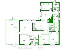 3 mh,oh,k,th,khh,s,ph,wc,var., Hiekkaharjuntie 3, Ruoke, Jyväskylä - Kiinteistömaailma Floor Plans, Diagram, Floor Plan Drawing