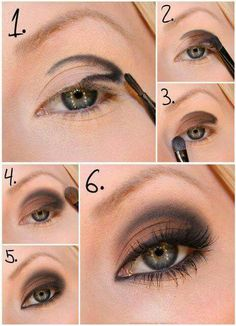 Learn how to make a perfect smoky eye makeup - Soy Moda Step By Step: Natural Makeup For Your Day To Day - Make-Up, (step by step) B # step hair and beauty . Eye Makeup Tips, Love Makeup, Skin Makeup, Smokey Eye Makeup, Makeup Brushes, Beauty Makeup, Makeup Looks, Makeup Ideas, Makeup Eyeshadow