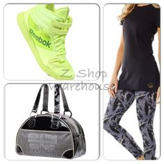 Zumba *4 PIECES! Lift Leggings~T-Shirt & London Love Bag & Reebok Urlead MID 8.5 #Zumba #PantsTightsLeggings