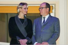 royalista:  Prince Albert and Princess Charlene watched the Good Friday Procession from the balcony of the Palais Princier, Monaco, April 3, 2015