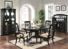 Fantastisch 5 PC Black Dining Room Set Table U0026 Chairs ...