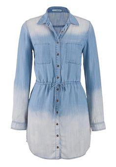 dip dye chambray shirtdress (original price, $44) available at #maurices