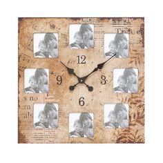 Wood Photo Clock Frame.