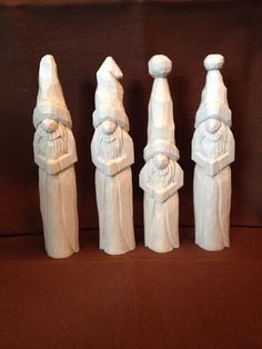 Paint It Yourself Santa Wood Carving Hand Carved by RWKWoodcarving