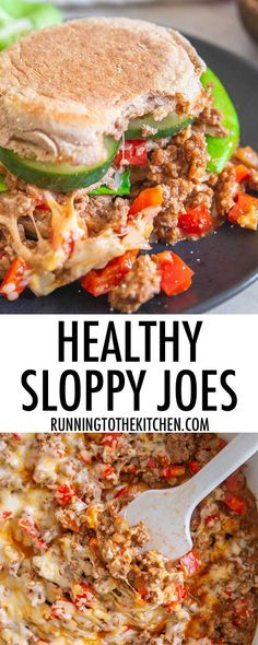 Quick and easy healthy sloppy joes are a great dinner option that can be ready in under 30 minutes. Healthy Sloppy Joe Recipe, Quick Hamburger Recipes, Healthy Sloppy Joes, Quick Crockpot Meals, Quick Vegetarian Meals, Easy Healthy Recipes, Quick Weeknight Meals, Beef Recipes, Real Food Recipes