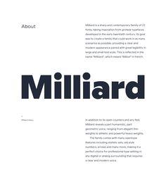 Milliard / Typefamily on Behance