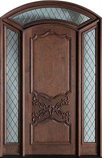 SpanishCedar Solid Wood Front Door - Double with 2 Sidelites