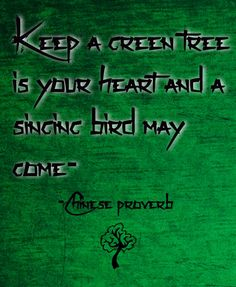Check out my new PixTeller design! :: Keep a green tree is your heart and a singing bird may come- -...