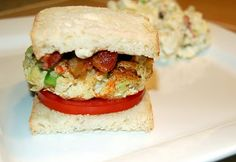 One of my secret recipes is this Avocado Crab Cake Sandwich which combines three delicious flavors: bacon, avocado and crab. Avocado Bread, Mashed Avocado, Crab Cake Recipes, Seafood Recipes, Take The Cake, Fresh Seafood, Secret Recipe, Crab Cakes, Wrap Sandwiches