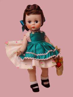 "8"" BKW ALEXANDERKINS 1956 WEARING MINT-WENDY TAKES FRUIT TO GRANDMA"" #566/TAGGED #MADAMEALEXANDEDR #Dolls"
