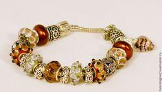 Купить Коричневые кружева браслет Пандора 75 - пандора, пандора стиль, пандора браслет