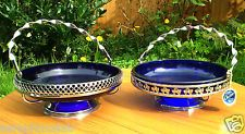 MAYELL CLASSIC & QUEEN ANNE~COBALT BLUE~VINTAGE~c.1960s~SERVERS & CRADLES~EXC!