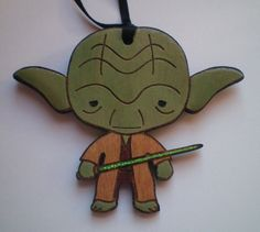 Star Wars Yoda Christmas Ornament Star Wars Christmas Tree, Christmas Ornaments, One Of Those Days, Holiday Traditions, Before Christmas, Hand Painted, Stars, Holiday Decor, Crafts