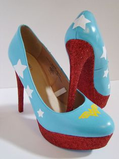 Wonder Woman Wedding Heels