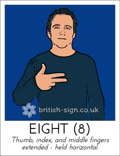 Today's British Sign Language (BSL) sign is: EIGHT - you can view all of… English Sign Language, Sign Language Words, Sign Language Alphabet, British Sign Language, Learn Sign Language, Makaton Signs, Bsl, Coding, Facts