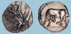 G758 An Excessively Rare, Exceptional, and Important Greek Silver Stater of Gortyna (Crete), the Finest of Three Known Examples of this Variety | Flickr: Intercambio de fotos