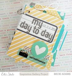 My Day to Day mini book using Elle's Studio Exclusive March kit