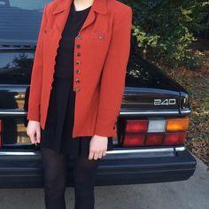 vintage blazer a beautiful, sturdy burnt orange blazer with seven tortoiseshell buttons to fasten the front. Albert Nipon  Jackets & Coats Blazers