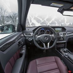 Winter is no problem with the E63 AMG now that it comes standard with high performance 4MATIC all-wheel drive.  #Mercedes #Benz #EClass #E63 #AMG #4MATIC #instacar #carsofinstagram #germancars #luxury