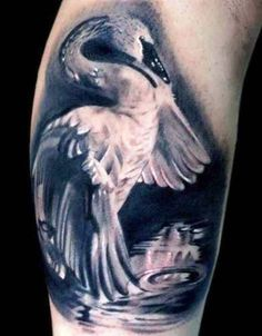 White Swan Lake Tattoo