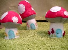 Mushrooms for Gnomes (gnomes are welcome in my fairy garden to)