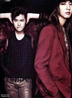 Suho & long haired Chanyeol :'3 <3
