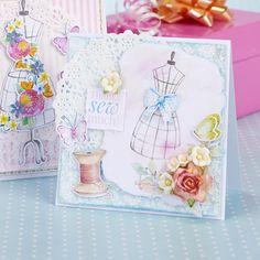 Dressmaker's card from Papercraft Inspirations 155