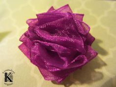 Ruched Rosette Tutorial