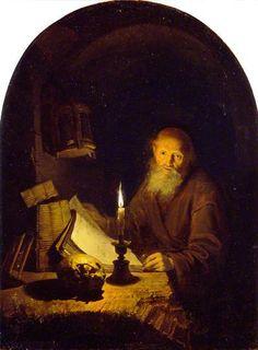 Gerrit Dou - Een kluizenaar (1661)
