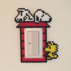 Snoopy light switch frame perler beads by Pink's shop