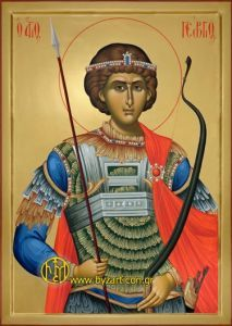 It includes the IERAX Archery Fighting System. A great innovative system with an new and unique release method , the Onyx release. Byzantine Icons, Byzantine Art, Religious Icons, Religious Art, Fall Of Constantinople, Saint George And The Dragon, Religion Catolica, Les Religions, Catholic Saints
