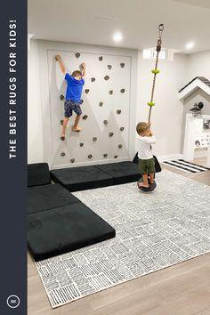 Kids Basement, Playroom Design, Playroom Ideas, Toy Rooms, Basement Remodeling, Kid Spaces, My New Room, Kids Bedroom, Family Room
