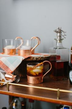 Serve seasonal cocktails for fall! http://www.stylemepretty.com/living/2015/11/07/6-tricks-to-get-your-home-ready-for-fall-entertaining/
