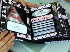This is a mini album that I have made following Kathy Orta's 'All Occasions' Mini Album Tutorial. I have used the Teresa Collins Chic Bebe Papers which I abs...