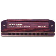 PUREHARP Harmonica 10 Trous G (Sol) Suzuki Diatonique MR550G