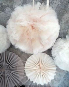 tulle pompons and rosette