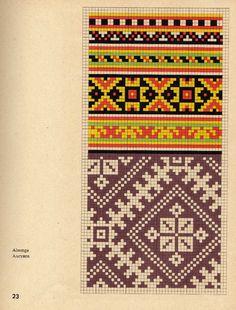 Knitting Charts, Knitting Stitches, Knitting Patterns Free, Hand Knitting, Loom Patterns, Craft Patterns, Cross Stitch Patterns, Mittens Pattern, Knit Mittens