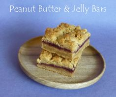 Peanut Butter and Jelly Cookie Bars made with Homemade Blackberry Jelly