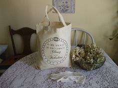 """CoCo Channel """"A Girl Should Be Two Things Classy & Fabulous""""  Quote Reusable grocery bag gift bag canvas tote by invisiblewingsdesign, $8.00"""