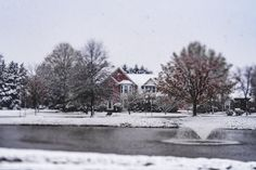 It Snowed In March... So I Decided To Create A Picturesque Postcard.  Continuing my walk around the pond and taking in the view I fell in love with this scene. It just reminds me of a holiday postcard.  This postcard :) of the pond was captured on #lexarmemory using my #Lensbaby #Edge80 lens.