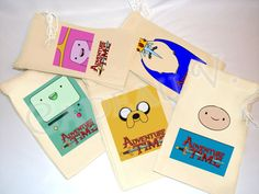 """Adventure Time Party Treat Bags ($18.50) / 21 Of The Most Unique """"Adventure Time"""" Etsy Finds (via BuzzFeed Community)"""